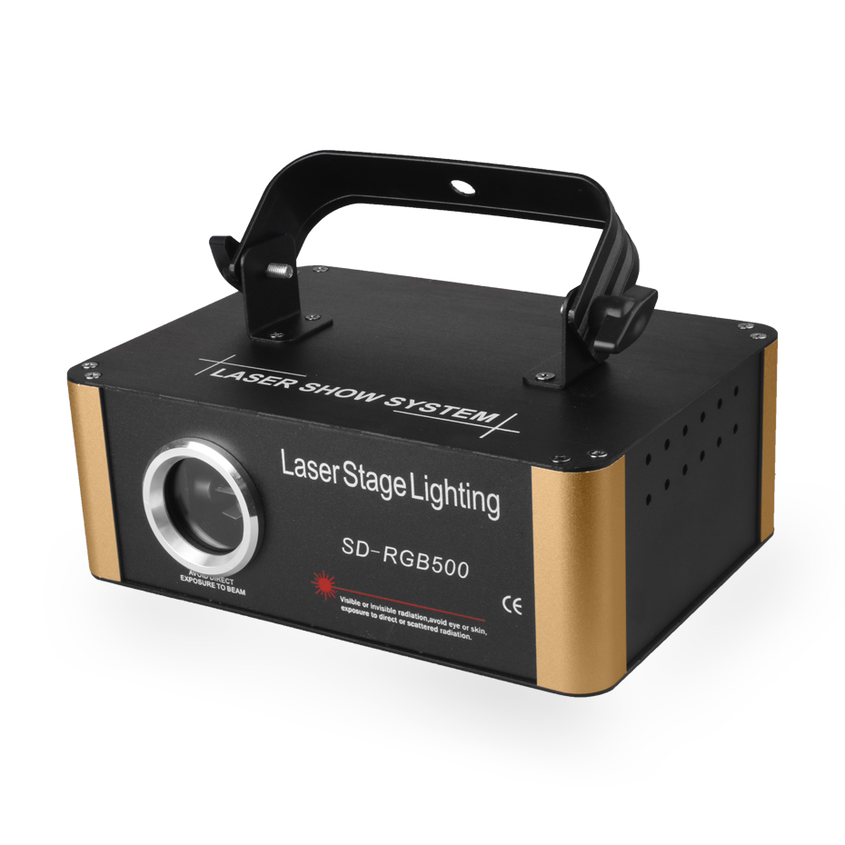 Projecteur Laser d'animation de carte d'alien 500mW rvb DMX SD PRO DJ effet d'éclairage de scène de Disco Scanner de barre de Club de vacances de mariage - 2