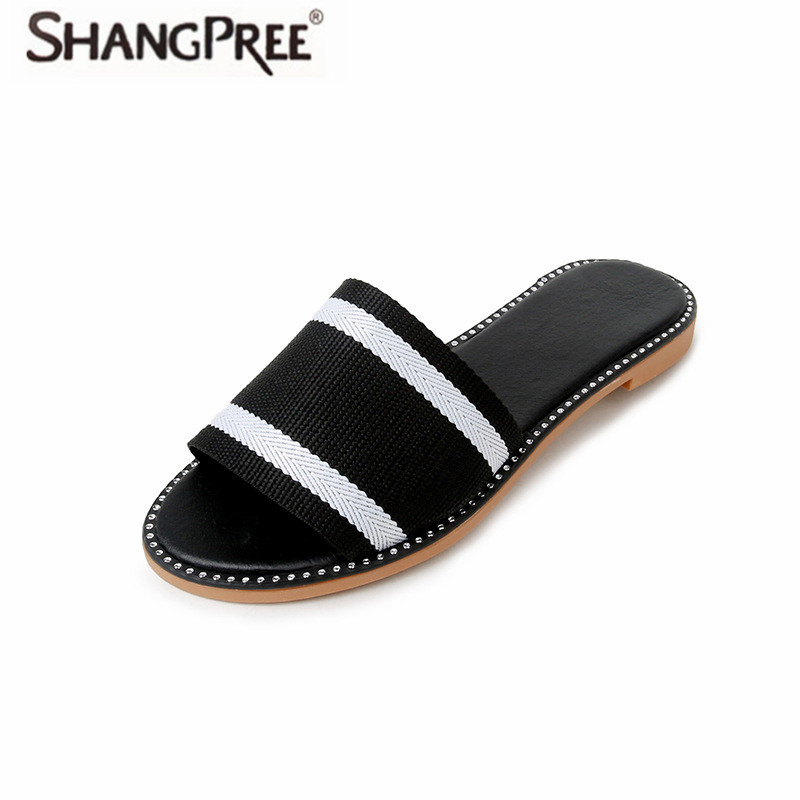 SHANGPREE Fashion Slippers Women Slides Ladies Shoes Woman Fashion Sandals Summer Beach Women Flip Flops Slippers Home Female 2016 winter children genuine leather boots brand boys cotton buckle shoes fashion ankle martin boots for kids