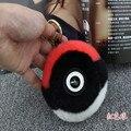 Rabbit Fur Pom Pom Key Chain Women Trinket Rabbit Toy Doll Bag Car Key Ring Monster Keychain Jewelry Gift