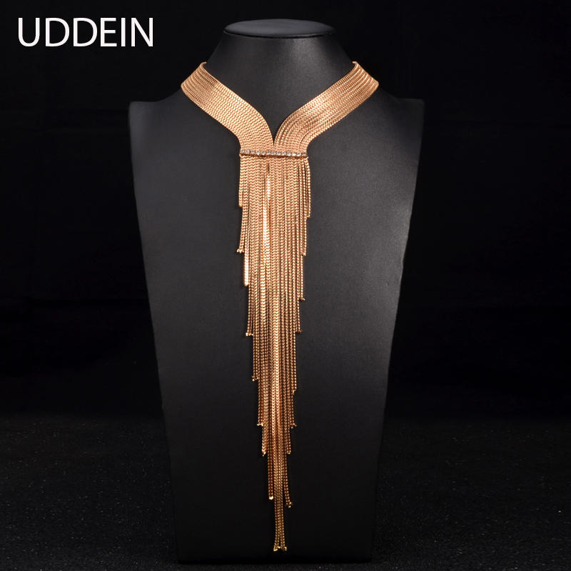 UDDEIN Vintage Maxi Long Necklace New Chs