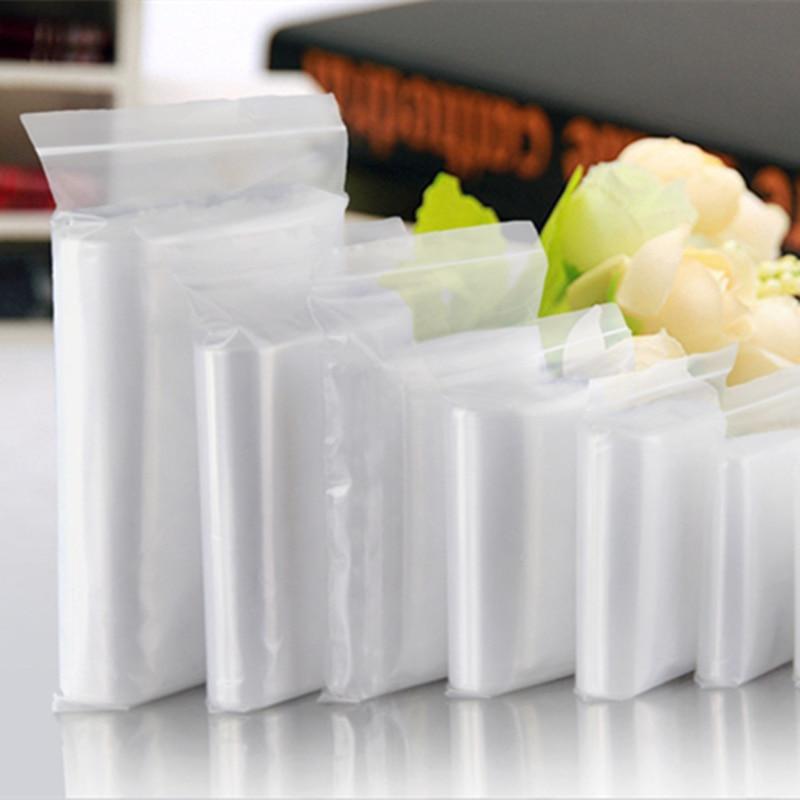 Medium Thickness 100pcs/lot 12wire Various Sizes Clear Self Sealing Plastic Packaging Bags,zipper Lock Poly Bags Zipper Bag