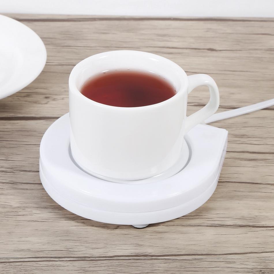 ГОРЯЧАЯ 110 В Электрическая теплая чашка Молоко Кофе Чай грелка Тепловая чашка белая электрическая чашка с питанием грелка подогреватель коврик Кофе Чай Кружка для молока
