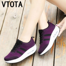 VTOTA Women Wedges Shoes Mesh Breathable White Shoes Fashion