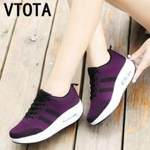 VTOTA Women Wedges Shoes Mesh Breathable White Shoes Fashion Spring Su