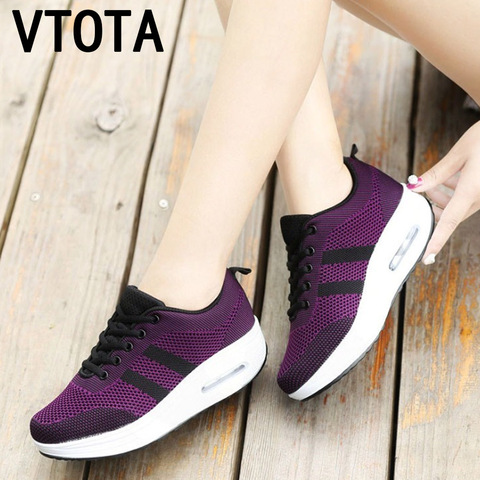 VTOTA Women Wedges Shoes Mesh Breathable White Shoes Fashion Spring Summer Women Chunky Sneakers zapatillas mujer Casual Shoes L Pakistan