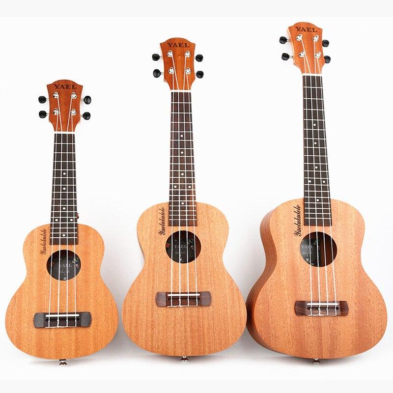 Ukulélé guitare Uke Sapele 4 cordes hawaïenne guitare Instruments de musique pour débutants U006
