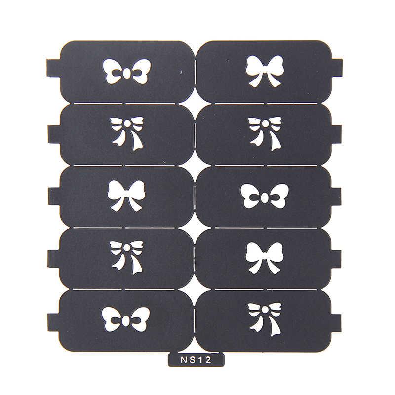 Новый #06-#24 многоразовый дизайн ногтей, полый шаблон наклейки многоразовые штамповочные инструменты ногти Советы полировка печать красота наклейки DIY