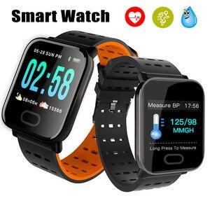 Image 1 - 13 pollici Astuto Della Vigilanza del Monitor di Frequenza Cardiaca di Sport Braccialetto Intelligente di Sonno Monitor Impermeabile Smartwatch Wristband per IOS Android