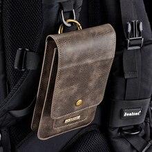 DG. MING Универсальный телефон сумка для смартфонов чехол-сумка из натуральной кожи с зажимом на поясной ремень Чехол samsung huawei так далее