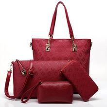 Красный композитные сумки женщины сумку 2016 пригородных сумки 4 шт./компл. универсальный женщины посыльного сумки 2016