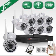 ANRAN HD 720 P 8-КАНАЛЬНЫЙ Беспроводной СЕТЕВОЙ ВИДЕОРЕГИСТРАТОР CCTV Безопасности Камеры Системы Открытый Ик Ночного Видения WIFI Видеонаблюдения Комплект 2 ТБ HDD