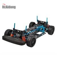 Алюминиевый сплав и углеродного вал привода 1/10 4WD Touring автомобиль Рамка комплект для TAMIYA TT01 TT01E автомобиля