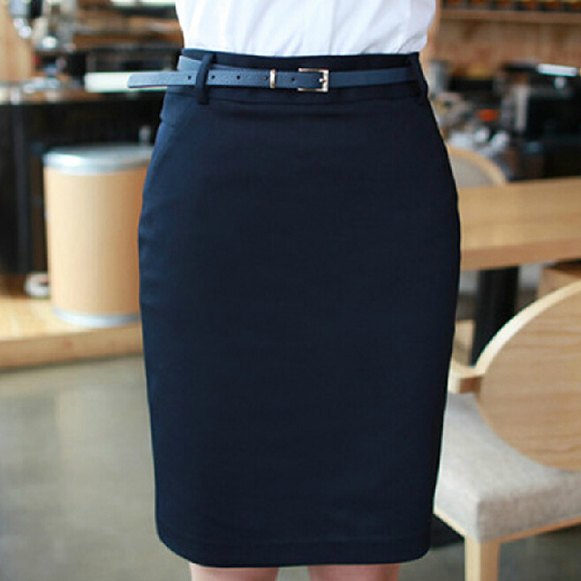 61aed544c4 Pencil Skirts for Ladies Work Wear 2017 Summer Women's New Plus size S-2XLZipper  Closed