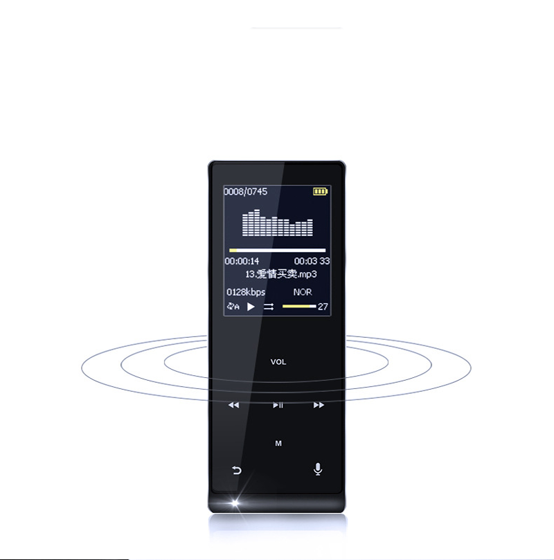 Touch Screen MP3 Player 8GB Metal APE/FLAC/WAV High Sound Quality Entry-level Lossless Music Player with FM