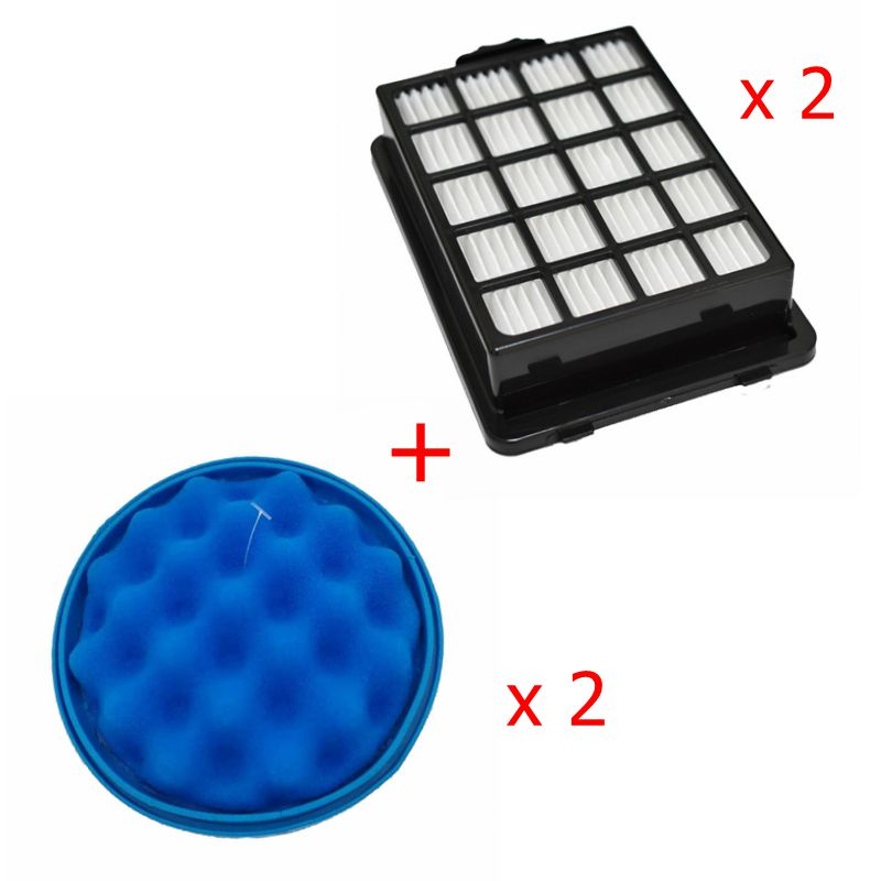 2 X Hepa Sponge Filter For Samsung Cyclone Force SC21F50HD SC15F50HU SC21F50HD SC50VA VC-F700G VU7000 VU4000 Vacuum Cleaner Part