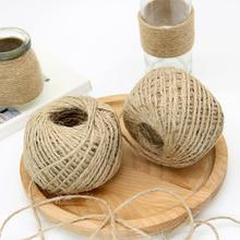 50M/Pcs Natural Jute Twine Burlap String Florists Woven Hemp Rope Thread DIY Scrapbooking Craft Wrapping Cords 6 Pcs/lot