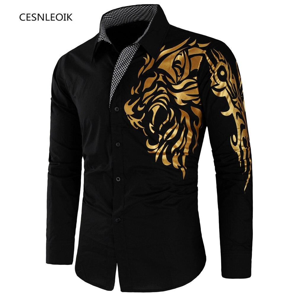 Shirt Men Male Dress Long-Sleeve Slim-Design Formal Korean Casual New-Fashion Masculina