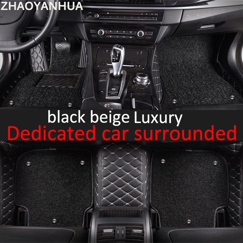 Special car floor mats made for Kia K7 Cadenza full cover waterproof foot case  carpet rugs perfect liners