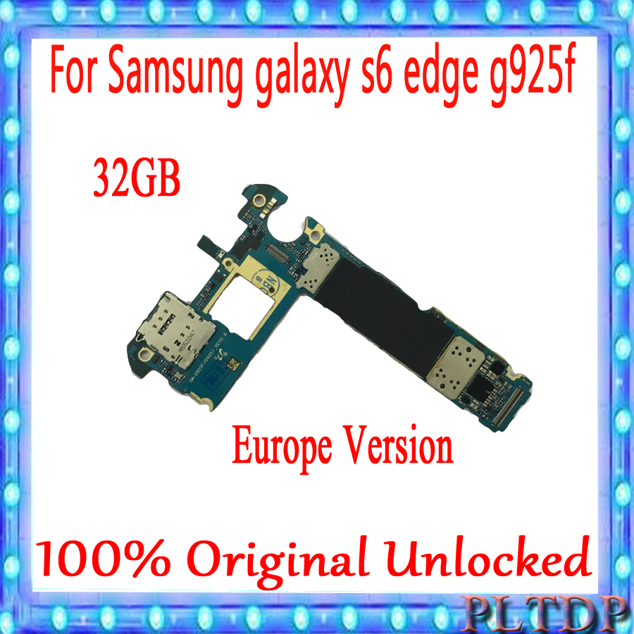 Original Motherboard For <font><b>Samsung</b></font> <font><b>Galaxy</b></font> <font><b>S6</b></font> G925F Unlocked Mainboard Android Logic <font><b>Board</b></font> With Full Chips image