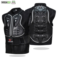 WOSAWE MTB Protection Vest Chest Protect Back Spine Protection Body Armor Cycling Motocross Vest Off Road Racing Jacket