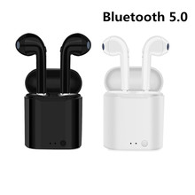 New Wireless Bluetooth 5.0 Earphones I7 i7s TWS Earbuds Headset With Mic For Samsung S9 S8 S6 Edeg Note 3 4 5 6 7 8 9 and Phone(China)