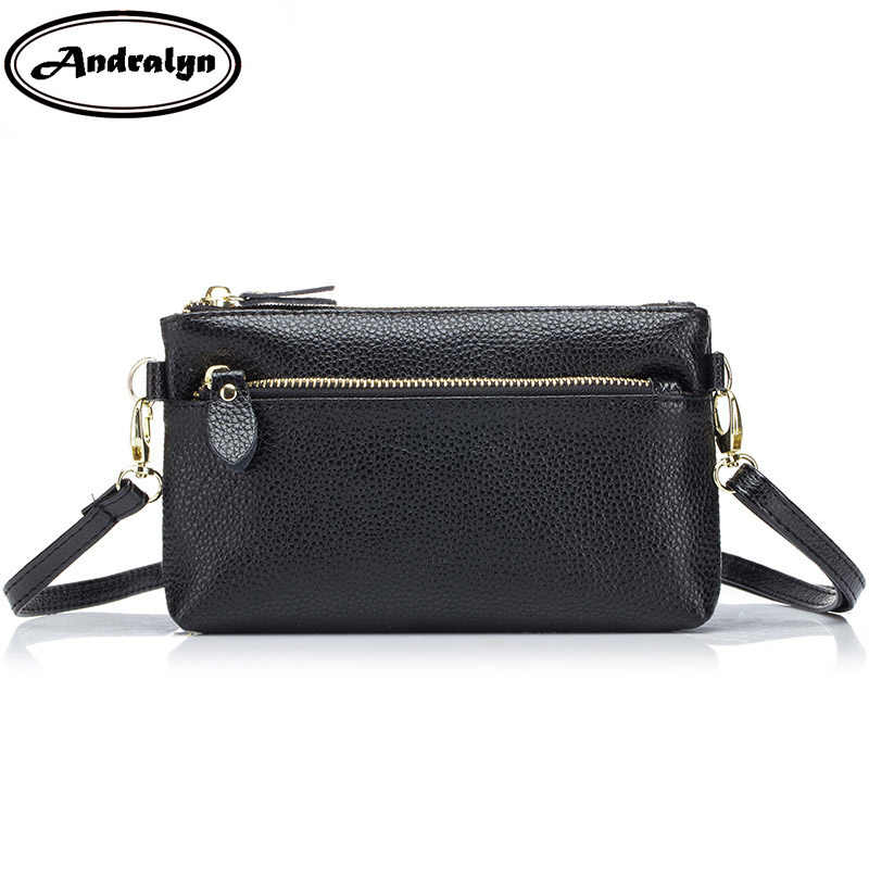 4592dbd1aec Andralyn Ladies' Messenger Bags Genuine Leather Brand Women Small Clutch  Bag Fashion Crossbody Bags For Women