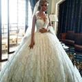 Robe De Mariee Princesse Plus Size Wedding Dress 2017 Luxury Ball Gown Wedding Dresses Custom Made