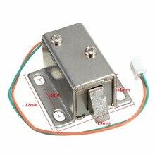 Низкая цена маленький 27x29x18 мм 12VDC Шкаф Дверь Ящик Электрический замок в сборе электромагнитный замок прочный в использовании