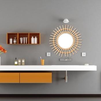 Nordic Wall Hanging Mirror Bathroom Bedroom Departments Entryway Living Room Mirrors Rooms