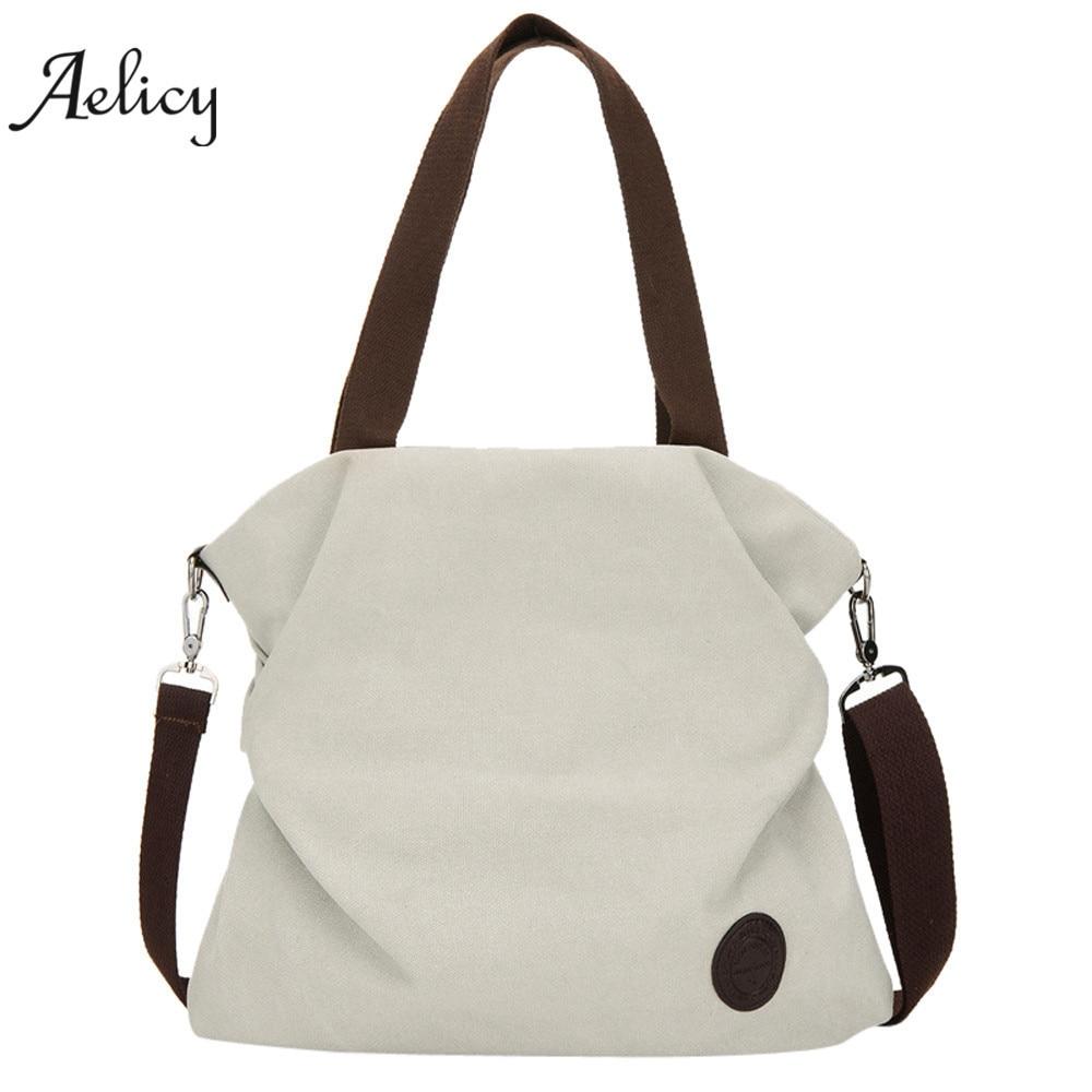 Canvas Handbag Tote Messenger Beach Shoulder Satchel Bag Zipper Messenge Vintage Shoulder Crossbody Bags 1277