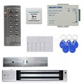 DIYSECUR RFID 125KHz Reader Password Keypad Access Control System Security Kit + Electric Magnetic Door Lock K4