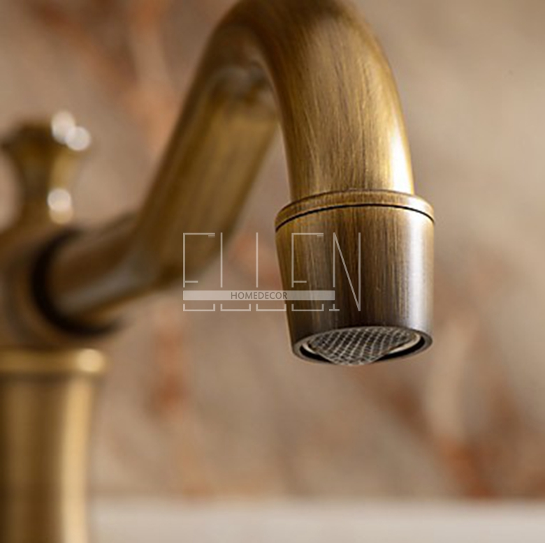 Antique Bronze Bathroom Faucets Basin Mixer Double Handle Bathroom 3 Hole  Sink Mixer Taps In Basin Faucets From Home Improvement On Aliexpress.com |  Alibaba ...