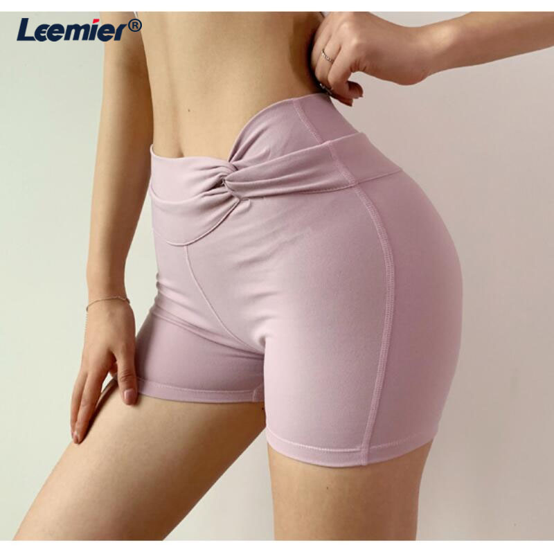 Workout Compression yoga shorts Casual Elastic Solid yoga Shorts Women Tight Bottom Slim gym shorts in Yoga Shorts from Sports Entertainment