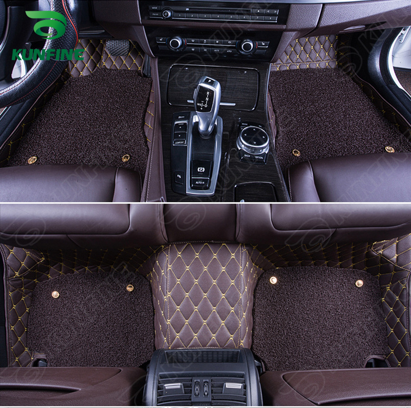 Top Quality 3D car floor mat for BMW 5 series foot mat car foot pad with One Layer Thermosol coil Pad 4 colors Left hand driver