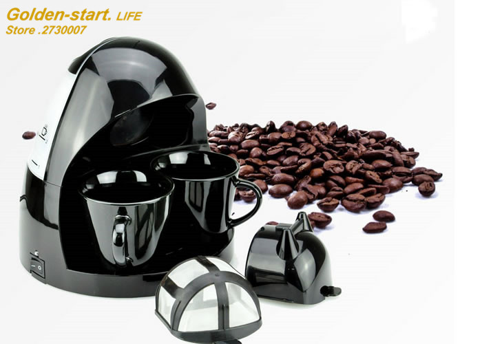 Mini Drop-type automatic coffee maker home and office with Heat preservation function American coffee machine