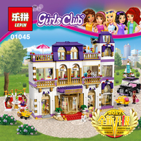 HOT!!! 1676Pcs Girls Series The Heartlake Grand Hotel Model Building Blocks Bricks lepin 01045 toys for girl Gift legoing 41101
