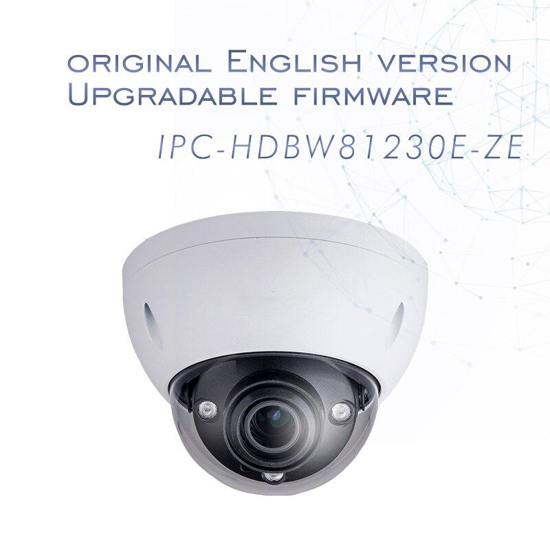 Inglese versione 4 k 12MP IP Della Macchina Fotografica IPC-HDBW81230E-Z della cupola del CCTV Della Macchina Fotografica 4.1mm-16.4mm obiettivo motorizzato Supporto ePOE e la scheda SD