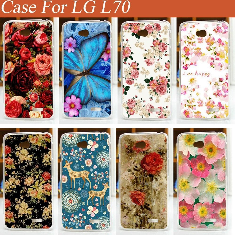 Big Sale Yeni Varış Boyama Güzel çiçekler Pc Kapak Kılıf Lg L70
