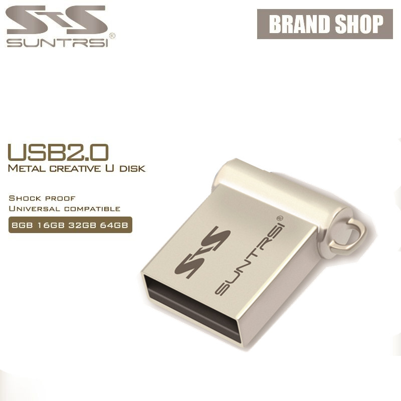 купить Suntrsi usb flash 64g pendrive 32gb Mini usb stick 16gb 8gb pen drive Metal USB 2.0 4gb Real Capacity Customized logo Waterproof