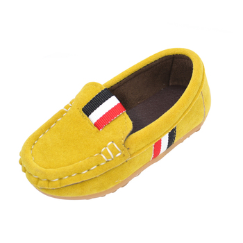 2019 frühling Herbst Kinder Flock PU Leder Casual Schuhe Jungen Faulenzer anti-rutschig Jungen Slip-on Weiche sohle atmungsaktive Schuhe