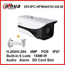 Dahua Starlight H.265 4MP DH-IPC-HFW4431K-AS-I6 ip-камеры 150 М Долго ИК POE Пуля Ip-камеры Micro SD Слот Для Карт Звуковая Сигнализация IP67