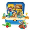 Детский DIY цветной комплект глины ручная работа моделирование глина игрушка развивающий набор подарок для детей-коробка для инструментов/к...