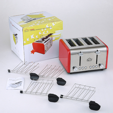 Multi-function stainless steel toast oven 4 pcs automatic baking toaster 2 mins breakfast machine bread maker