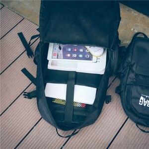 Image 3 - للجنسين حقيبة الظهر أكسفورد النسيج مزدوجة الروك أكياس سكيت حقيبة الظهر عشاق أكياس الطلاب السود