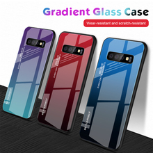Cases For Samsung Galaxy S10 Lite Case Tempered Glass Gradient Simple Luxury Shockproof For Samsung S10 S9 S8 Plus Cover Shell simple s10