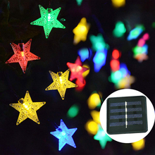 30/50/100/200 led solar Light Waterproof Star shape LED String lights Outdoor Holiday Christmas Party Wedding Decoration