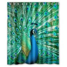 CozyBath Peacock Waterproof Polyester Fabric Shower Curtain And HooksChina
