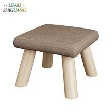 ファッション子供の家具シートスツールオットマン木製布戸口変化の靴小椅子テーブルサイド子供子供のスツール
