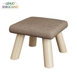 Модная детская мебель сиденье стул Османов деревянная Ткань дверной проем изменить обувь Малый стул стол сбоку детские стулья