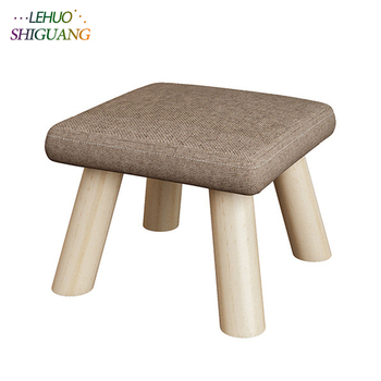 Fashion Children's furniture seat stool Ottomans Wooden cloth Doorway Change shoes Small chair Table side kids Children's Stools